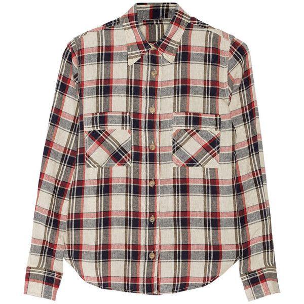 étoile Isabel Marant Ugo Plaid Linen Blend Shirt 162
