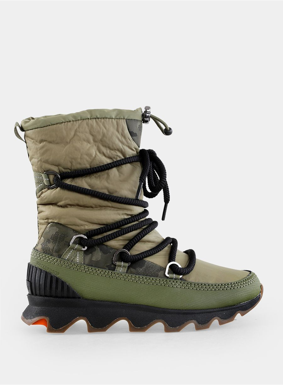 Buty Damskie Sorel Kinetic Boot Hiker Green Black Boots Sorel Green Black S