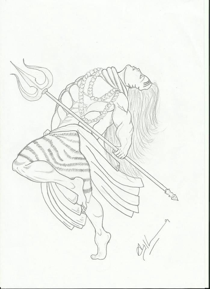 shiva thandavam drawings - Google Search | hands line art | Shiva