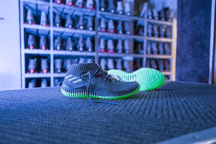 "21a72484483052 The Adidas Dame 4 in the ""Glow In The Dark"" colorway!"