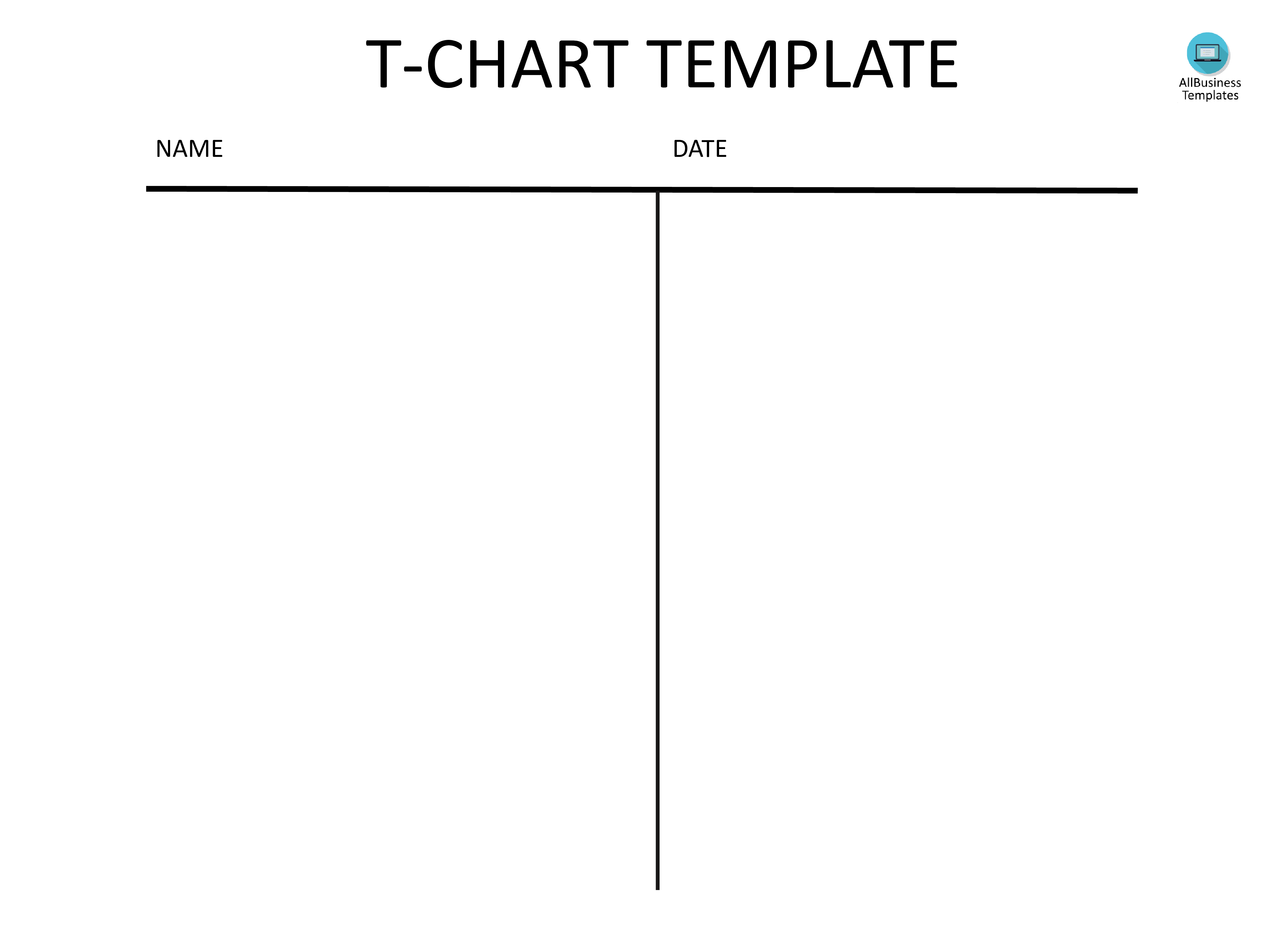 Free T Chart Template