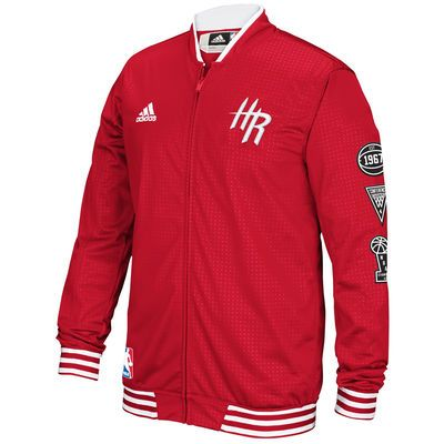 a87f98e93 Men s Houston Rockets adidas Red On-Court Warm-Up Jacket