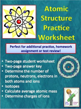 Atoms and Atomic Structure Worksheet Worksheets, Chemistry and - atomic structure worksheet