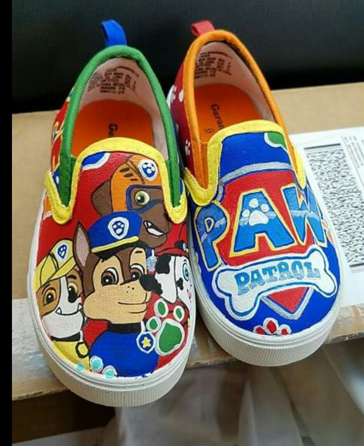 6fc6c21e2943d6 Hand painted Paw Patrol Shoes