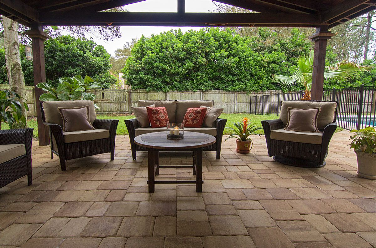 Create The Perfect Patio For Entertaining Guests With Mega Olde Towne  Pavers From Tremron.