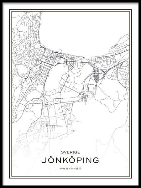 jønkøping sverige kart Tavla Jönköping karta. | 3. R. Medelpad Jonkoping. Sverige  jønkøping sverige kart