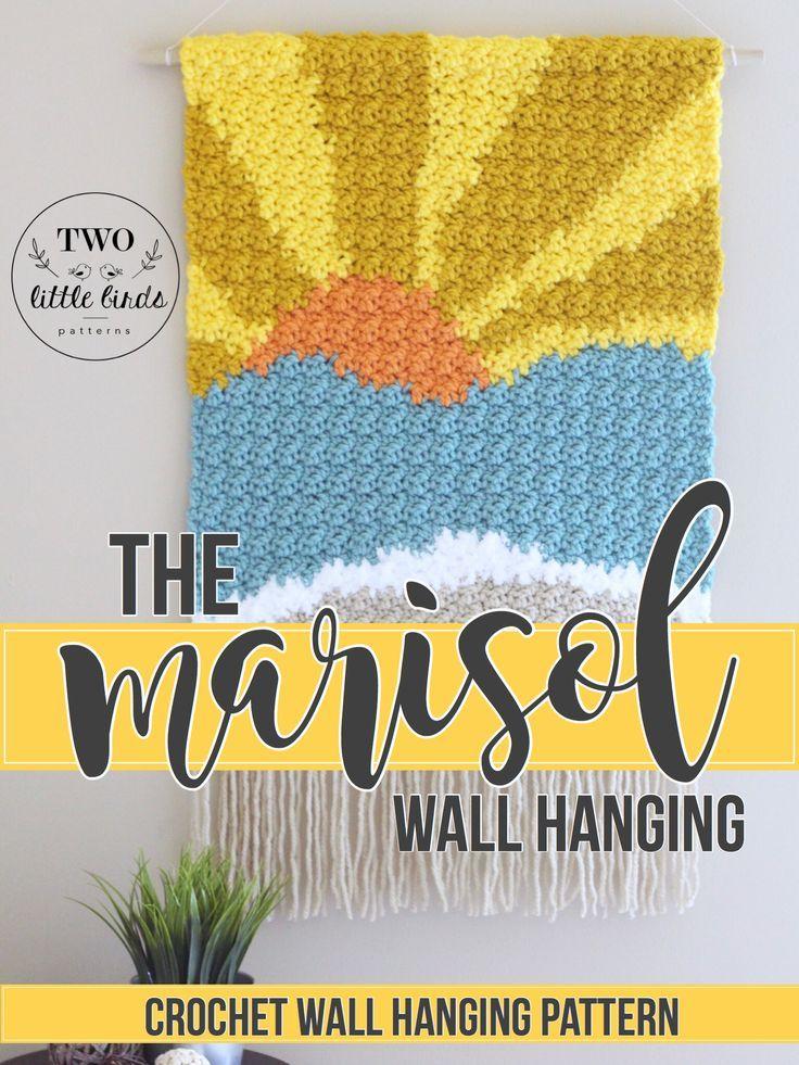 Crochet Wall Hanging Crochet Pattern Summer Crochet Pattern Etsy Crochet Wall Hangings Crochet Wall Art Wall Hanging