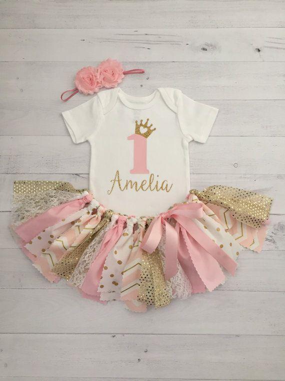 Princess Theme Birthday First Birthday Baby Girl Birthday Princess Outfit