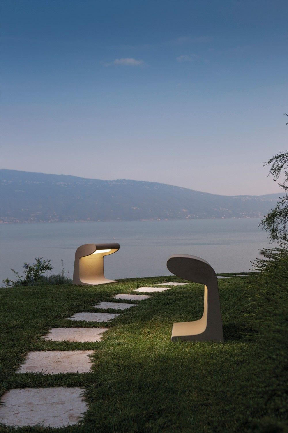 BORNE BÉTON GRAND Concrete Outdoor And Indoor Floor And Table Lamp,  Conceived For The Unité