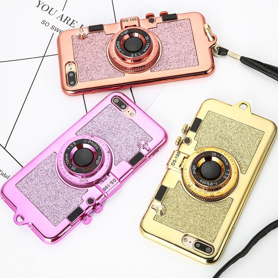 best website bb7d6 dd51d Luxury 3D Plating Camera Phone Cases For iphone 7 6 6s Plus Case ...