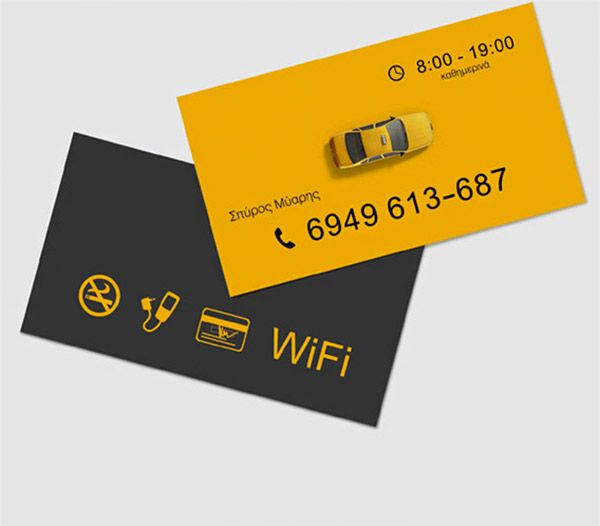 Business Card Designs For Taxi Business  Business Cards