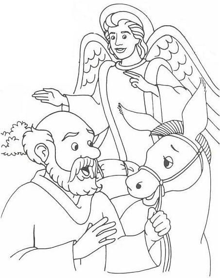 Balaam S Donkey Coloring Page Wallpaper Bible Crafts Sunday
