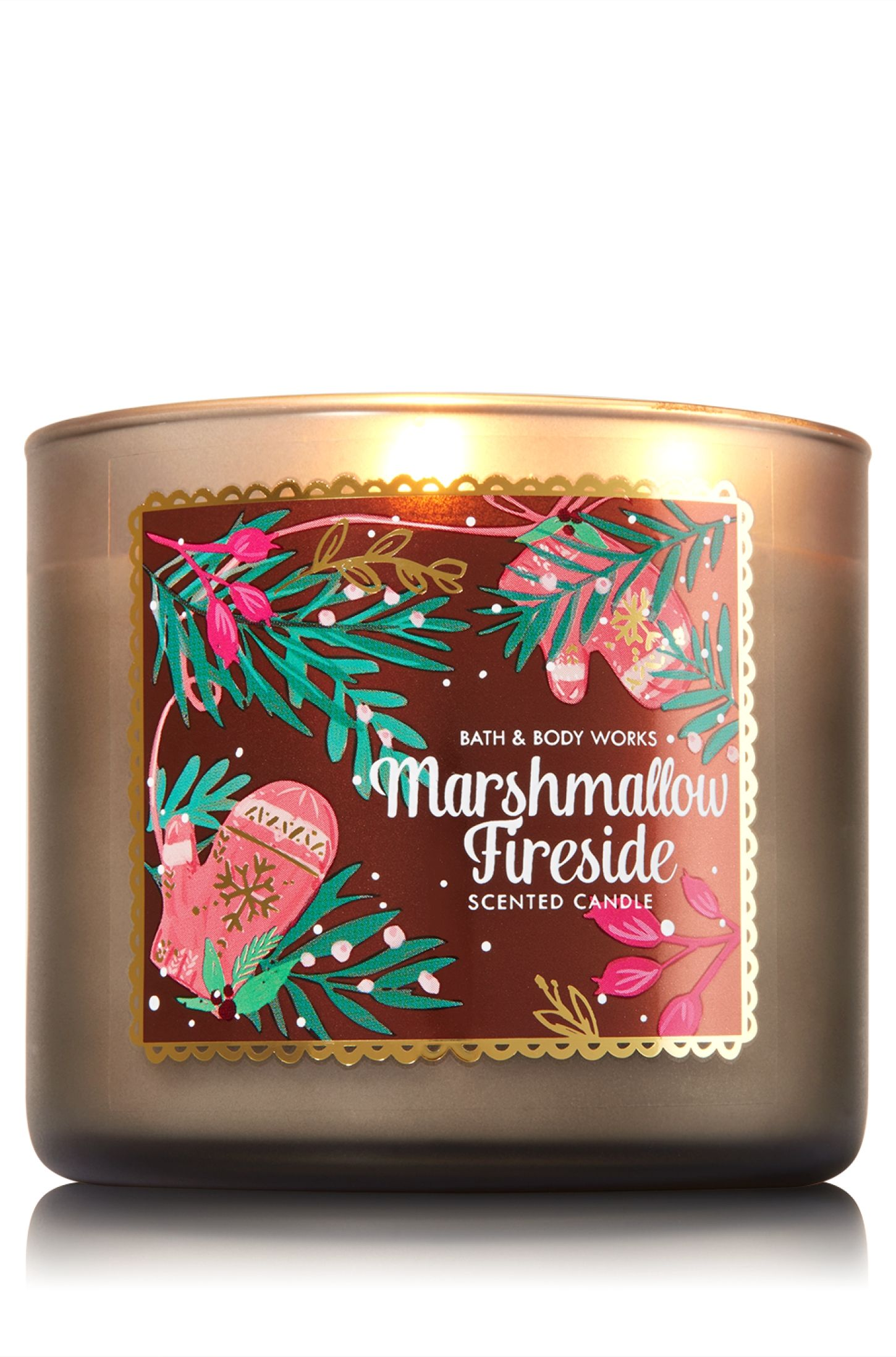 Marshmallow Fireside 3 Wick Candle Home Fragrance 1037181 Bath