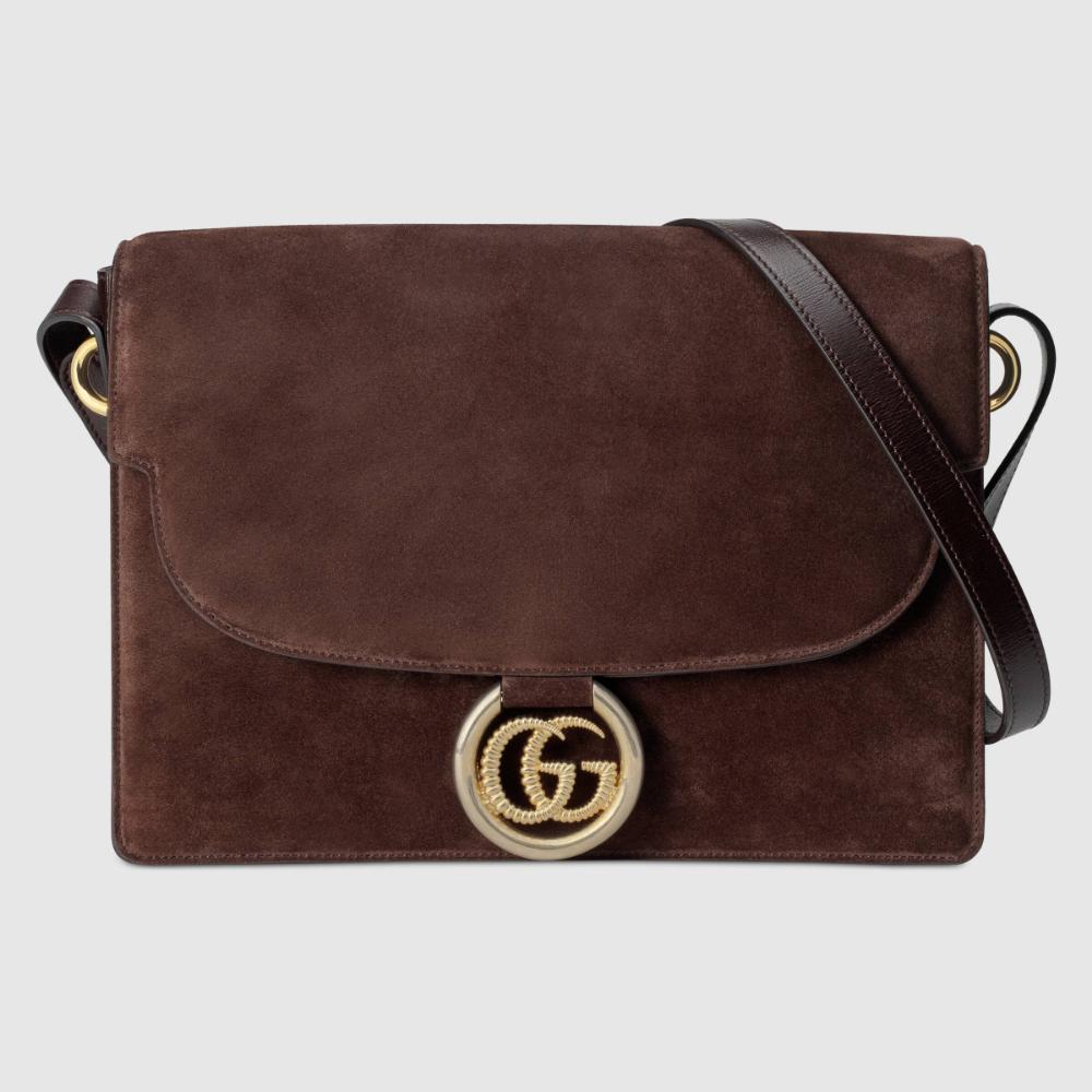 Photo of Gucci Medium suede shoulder bag