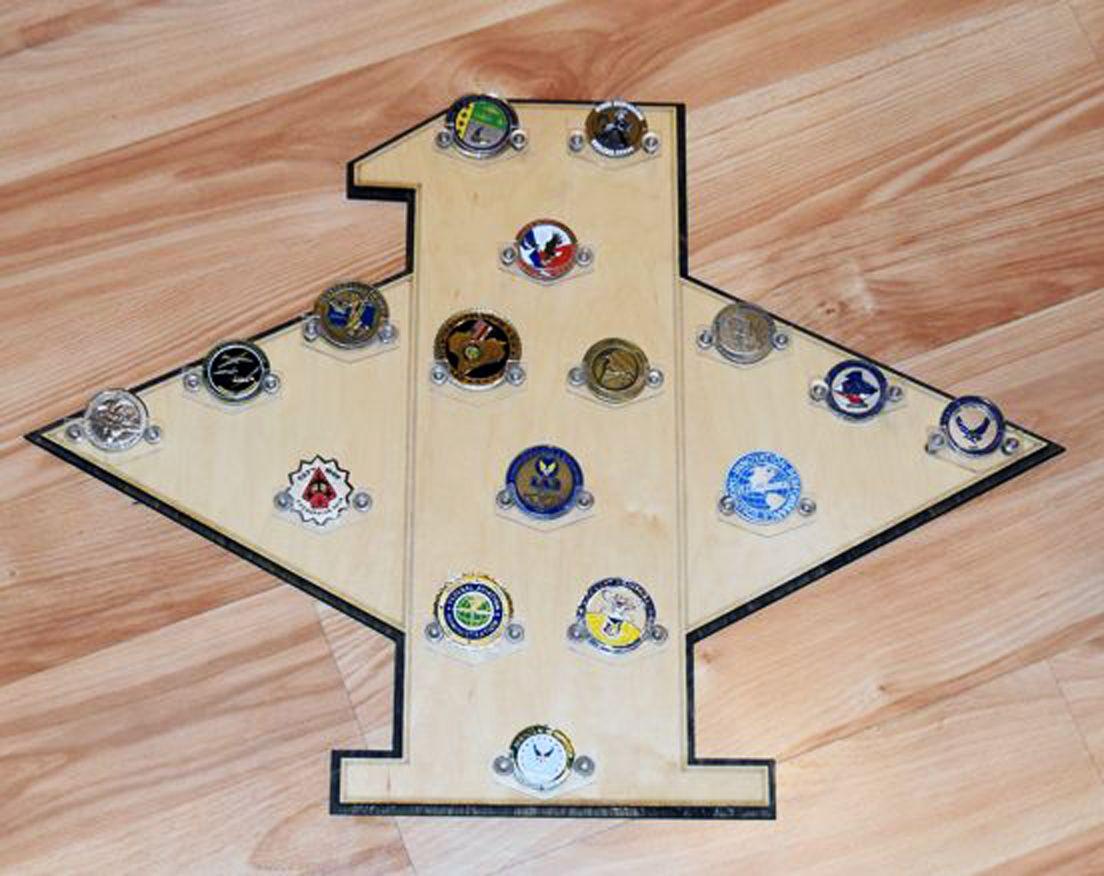 USAF 1st Sgt challenge coin holder / display Challenge