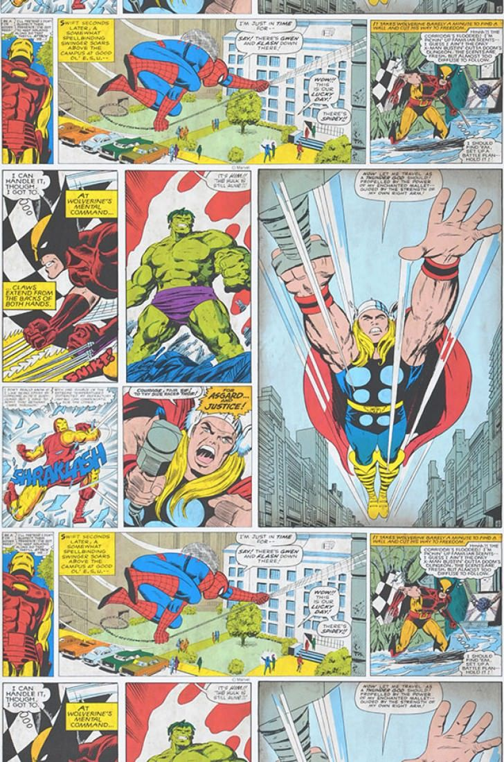 Wallpaper 1960s Marvel Comic Pattern wallpaper, Kids