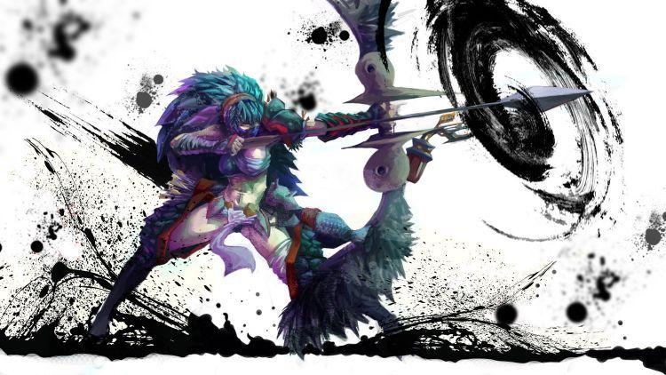 Fonds D Ecran Jeux Video Fonds D Ecran Monster Hunter Saga Monster Hunter 3 Par Lwolf97 Hebus Com Chasseur De Monstre Guerrier Anime Monster Hunter