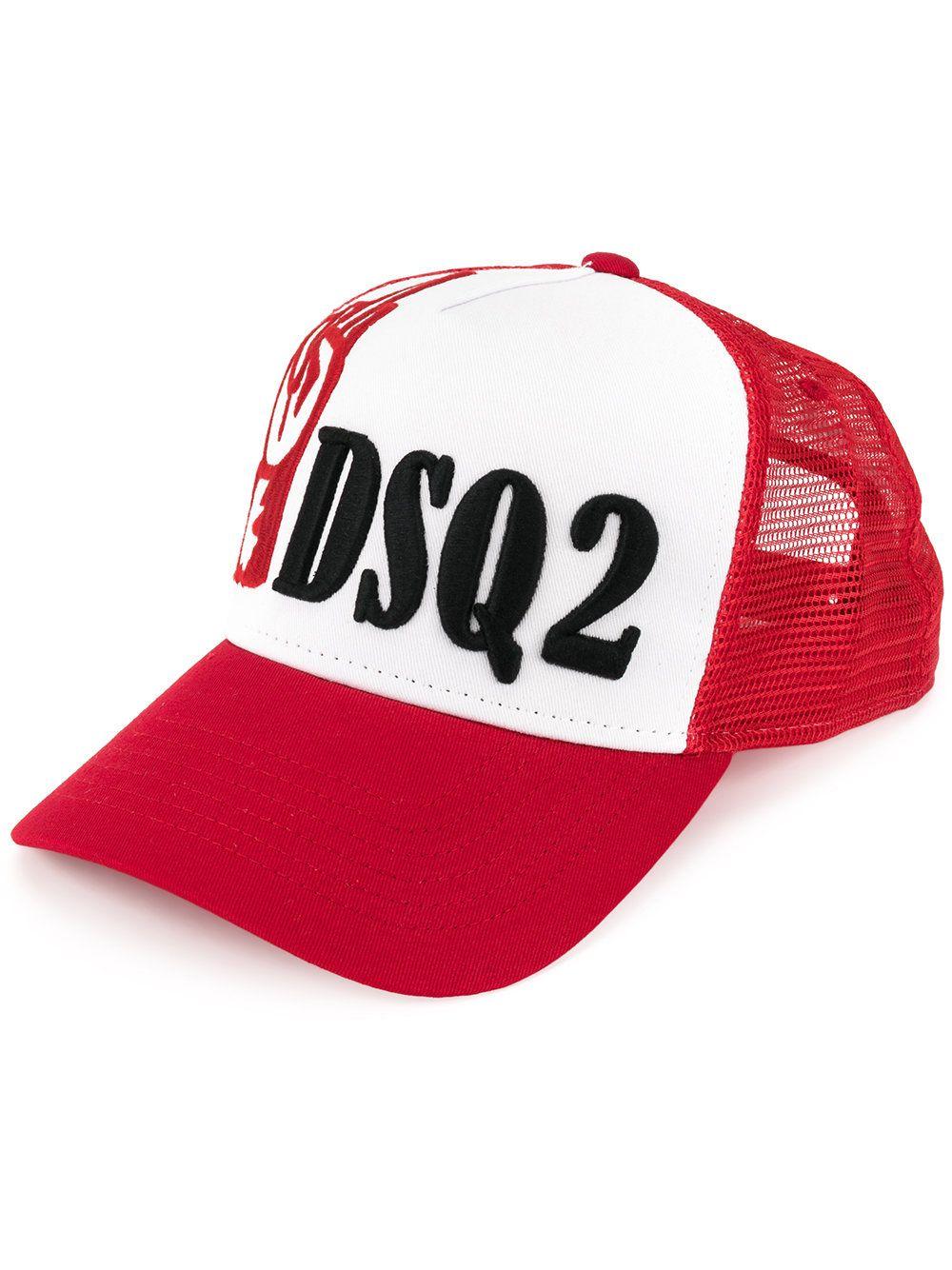 Dsquared2 Logo Baseball Cap In Red Dsquared2, Baseball