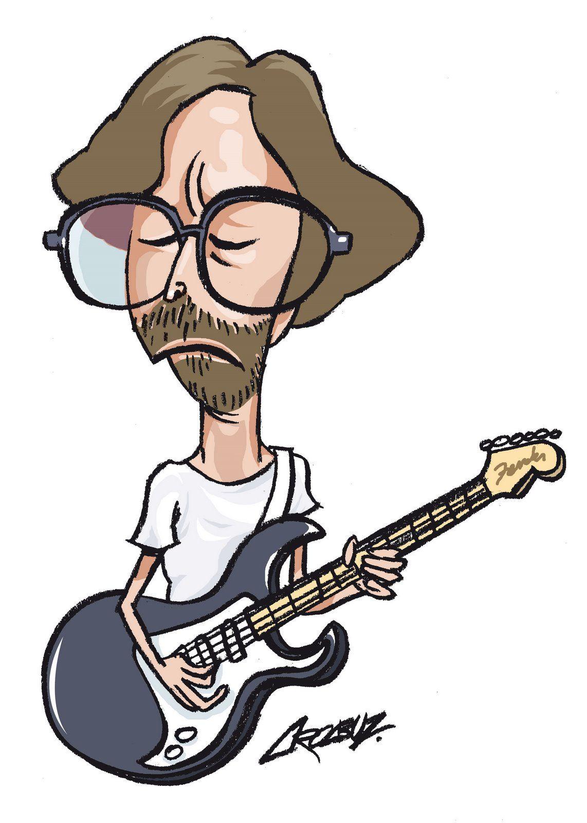 Eric clapton eric clapton cartoons band cartoon faces