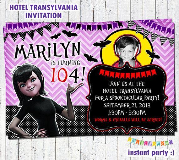 Tarjeta De Invitación Hotel Transylvania 2 Cumpleaños
