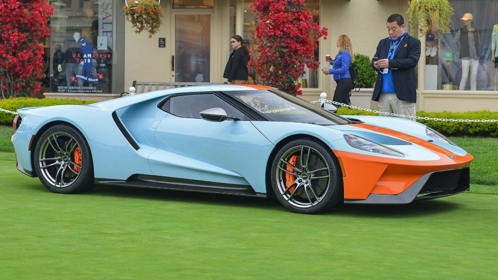 Fast From The Past Ford Gt Heritage Edition Gets Retro Gulf Livery Coches Vias