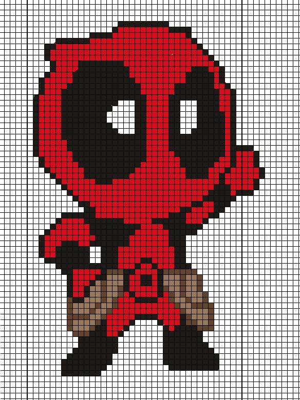 Deadpool pattern by Tsukinin on DeviantArt | Punto de cruz ...