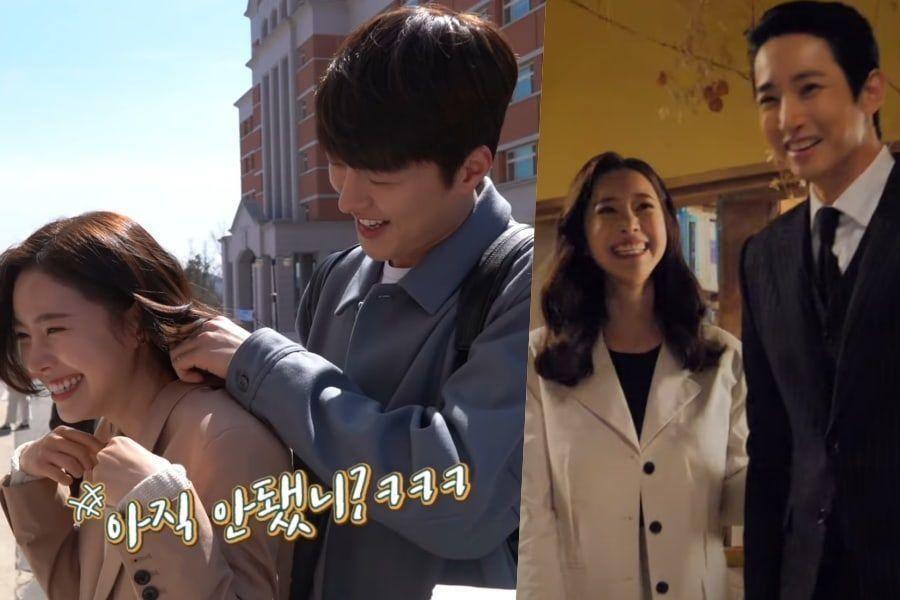 "Watch: Jin Se Yeon, Jang Ki Yong, And Lee Soo Hyuk Rehearse Romantic Scenes For ""Born Again"""