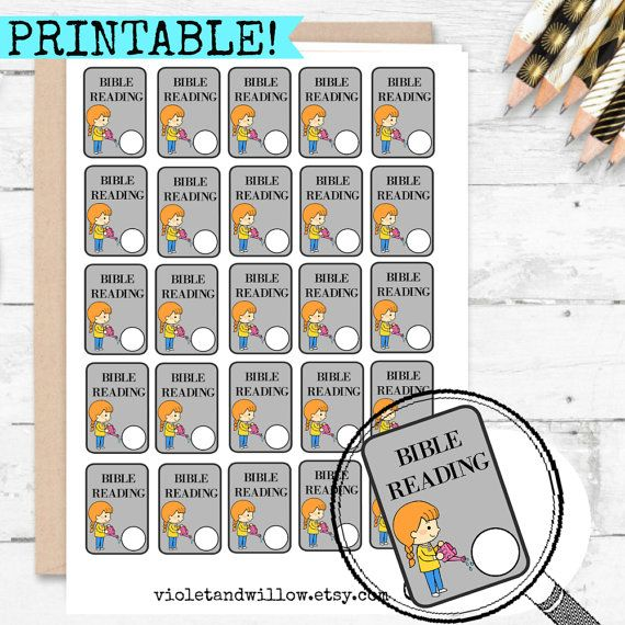 PRINTABLE Bible Reading Planner Stickers JW by