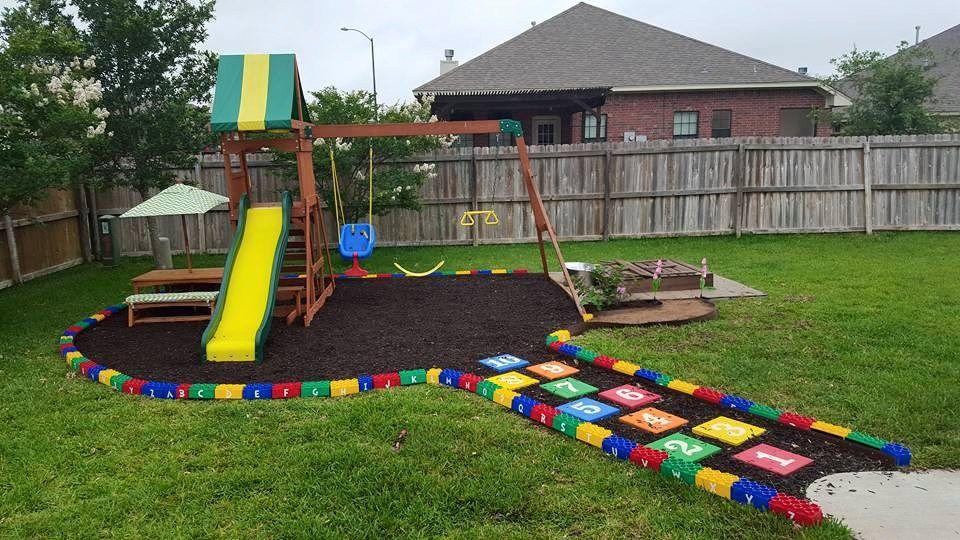 Diy lego border playground playground design backyard