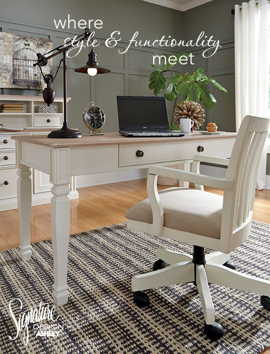 Your Home Office Is Where Style And Functionality Meet Sarvanny Home Office Collection Ashley Furniture Furniture Best Home Office Desk Ashley Furniture