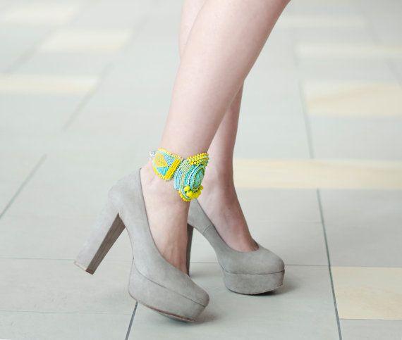 Women summer anklet/ summer foot jewelry/ by RasaVilJewelry
