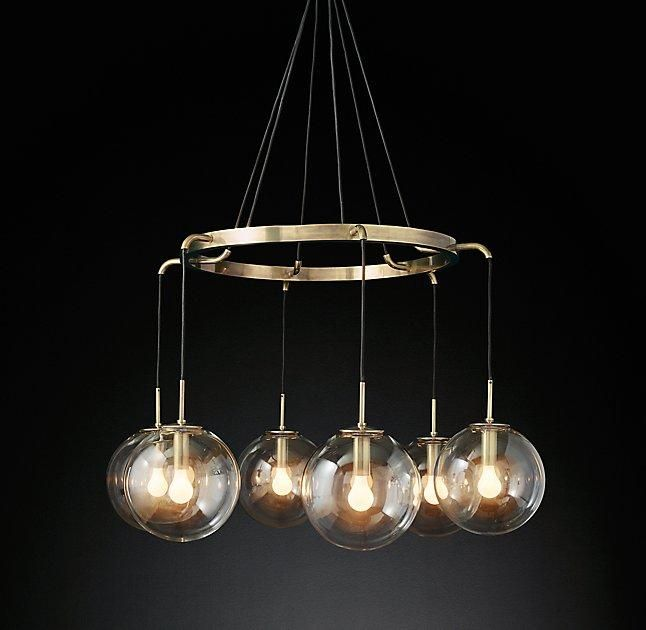 Languedoc suspended glass globes chandelier decor furniture languedoc suspended glass globes chandelier aloadofball Gallery