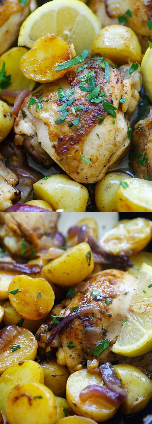 Spanish Chicken and Potatoes Crazy delicious onepot