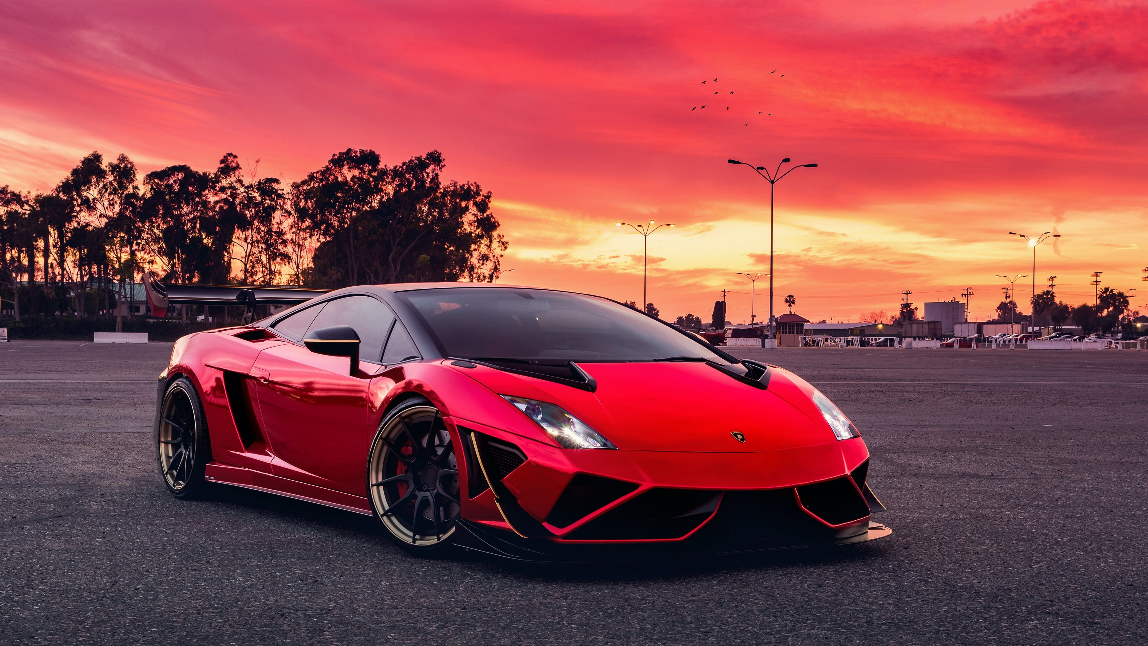 Red Car Red Sky Car Red Sports Car Vehicle Supercar Asphalt Lamborghini Luxury Vehicle Photogr Red Lamborghini Lamborghini Gallardo Sports Car Wallpaper