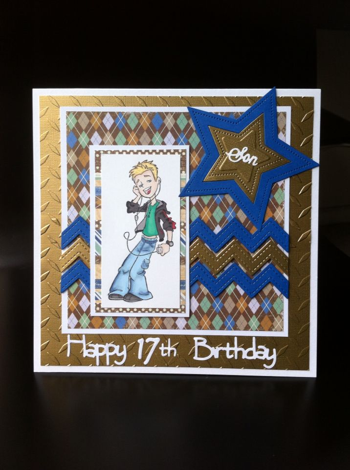 17th Birthday Card For My Son Kids Cards Pinterest Kids Cards