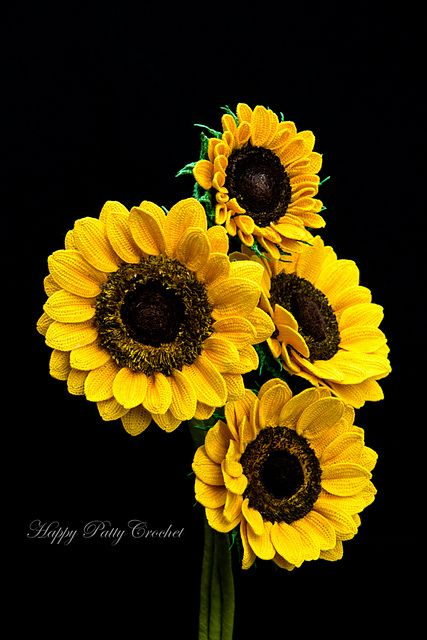 Sunflower pattern by Happy Patty Crochet | Ganchillo estilo libre ...