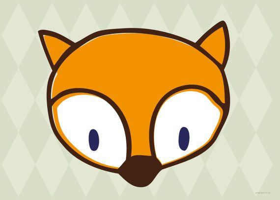 Versier je huis met deze vrolijke vosjesposter door studiostift