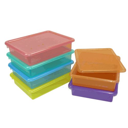 Incroyable Letter Size Colored Plastic Storage Containers. Clear Colors For Kids  Artwork. $7.99.