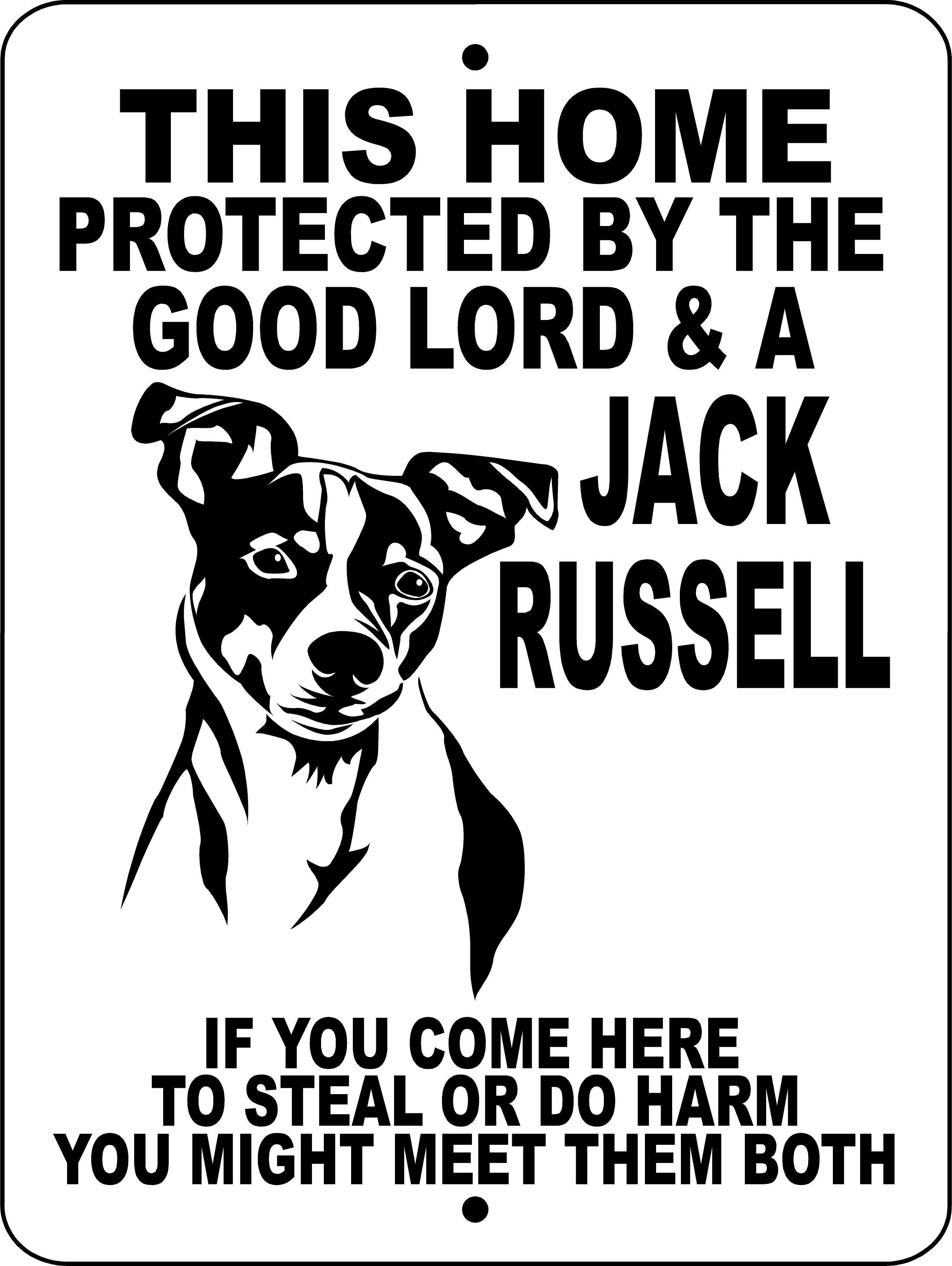 Jack Russell Terrier Aluminum Dog Sign Gljr