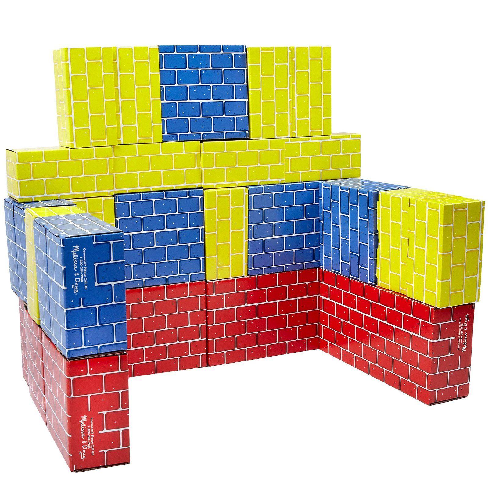 YoYoBirthday Melissa & Doug Jumbo Cardboard Blocks 24 pcs Free