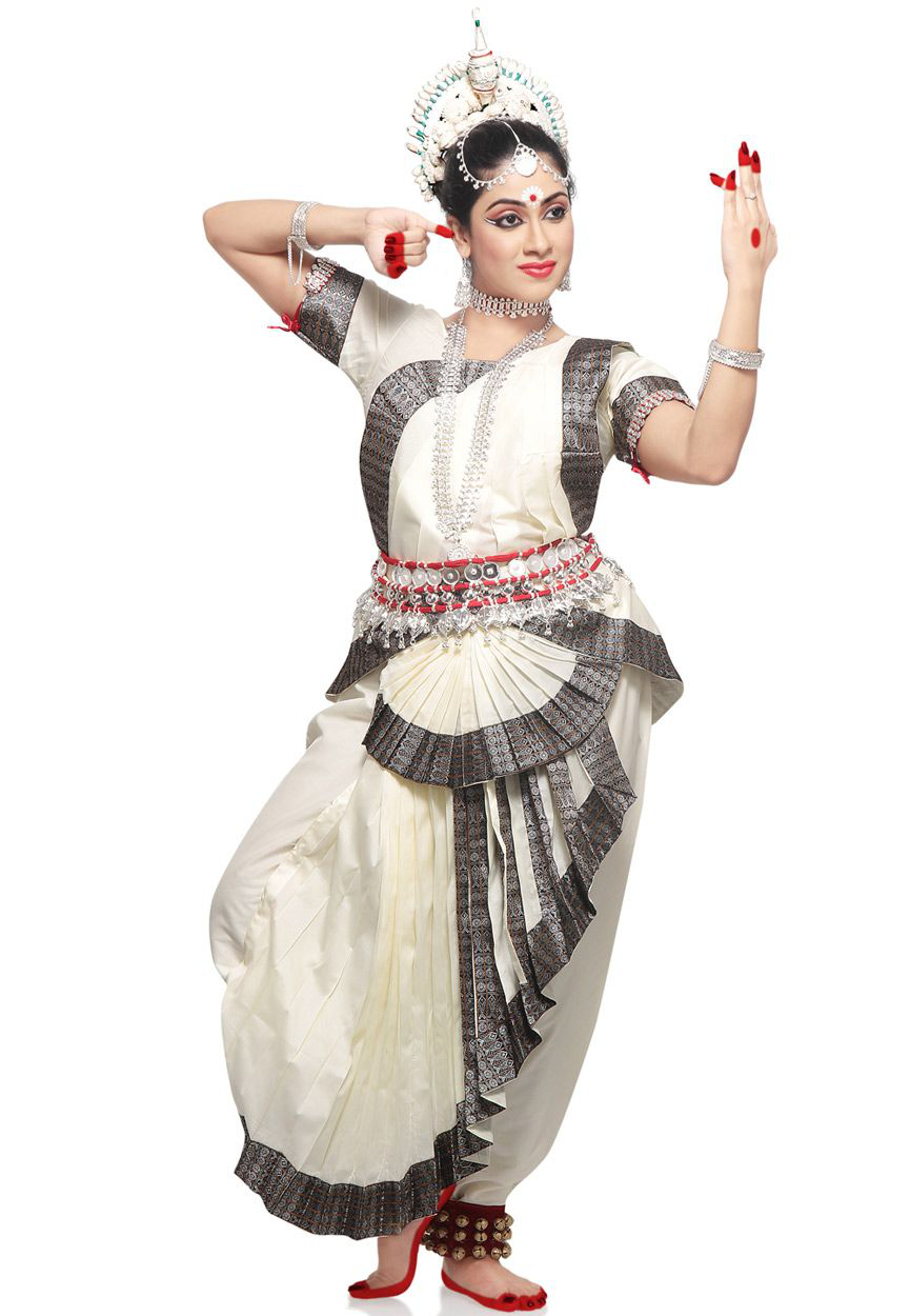 Light Cream Art Silk Indian Classical Odissi Readymade Dance Costume Indian Dancer Drawing Indian Classical Dance Indian Classical Dancer Dance Of India