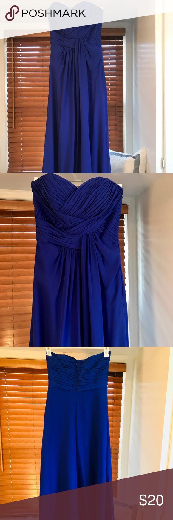Cobalt blue jasmine bridesmaid dress style b royal blue