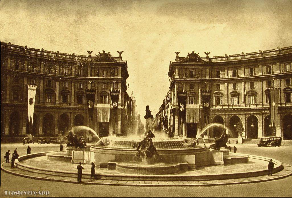 Piazza Esedra da Villa Peretti ad Oggi Leggende, Storie