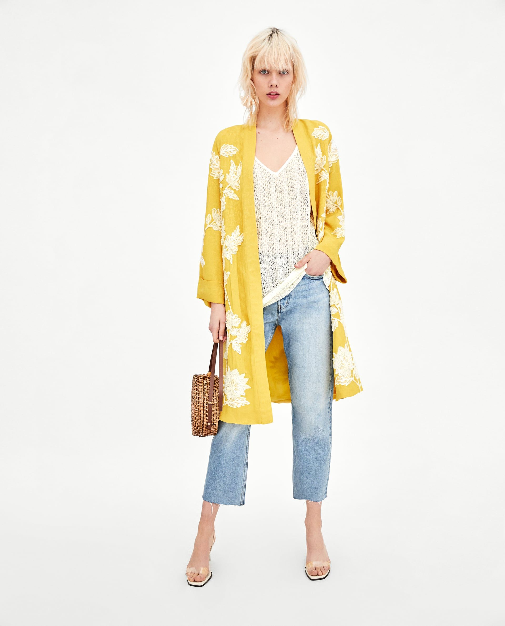 4d435ea496 We love a touch of yellow for Spring/Summer and this Zara Kimono is  perfect:) #welove #summer #fashion