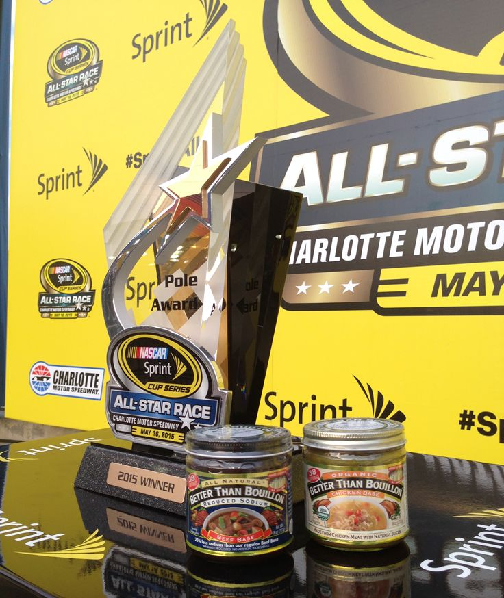 We're Fueled with Flavor! Better Than Bouillon in Victory Lane at the Sprint All-Star race at Charlotte Motorspeedway, May 16, 2015.
