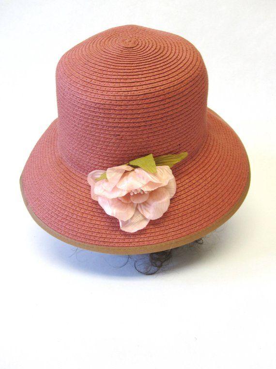 889027f77cbb2 Dusty Red Natural Fiber Hat Cloche Millinery Womens
