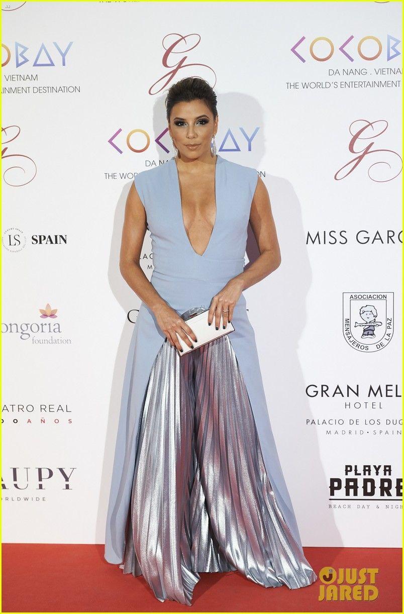 Eva Longoria Looks Stunning in Plunging Jumpsuit at Global Gift Gala in Madrid