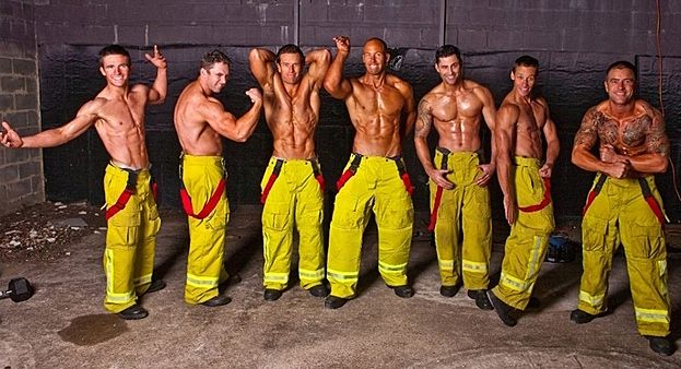 The Boys Keep Buff With Team Exercise Sessions Hot Firefighters