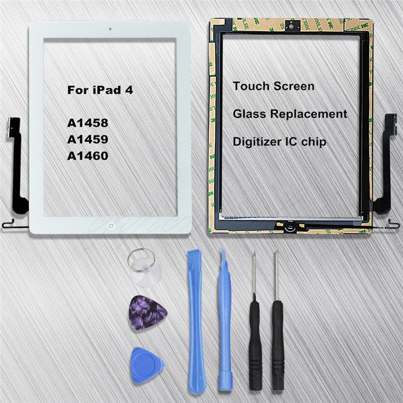 Touch Screen Digitizer Glass Lens Replacement For Apple iPad 4 A1458 A1459 A1460