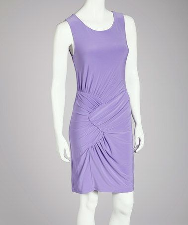 Take a look at this Lilac Twist Cutout Dress - Women by Quiz on #zulily today! $27 !!